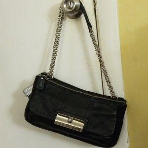 Coach Kristen classy black leather pocketbook
